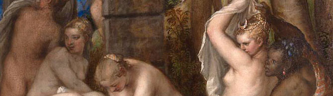 detail from Diana and Actaeon, by Titian