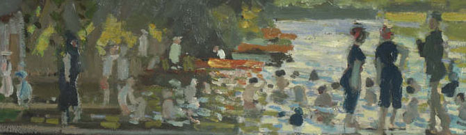 from Bathers at La Grenouillère, by Claude-Oscar Monet